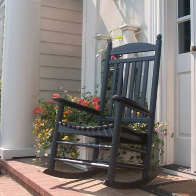 POLYWOOD® Jefferson Slatted Rocker in Black