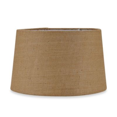 Mix & Match Large 16-Inch Hardback Burlap Drum Lamp Shade in Tan
