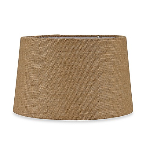 mix match large 16 inch hardback burlap drum lamp shade in tan www. Black Bedroom Furniture Sets. Home Design Ideas