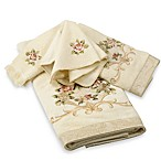 Avanti Rosefan Washcloth in Ivory