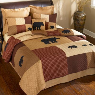 Donna Sharp Logan Bear King Quilt