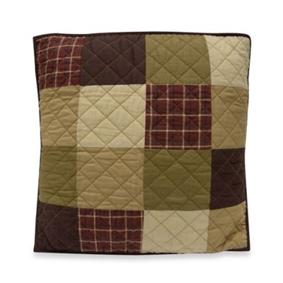 Donna Sharp Logan Bear Patchwork Decorative Pillow