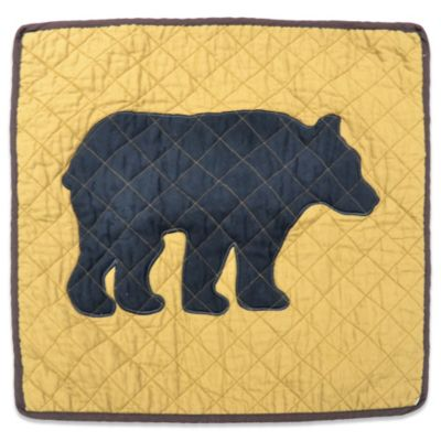 Donna Sharp Logan Bear Square Decorative Pillow
