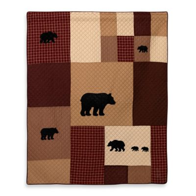 Donna Sharp Logan Bear Quilted Throw