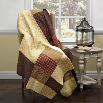 Donna Sharp Logan Patch Quilted Throw