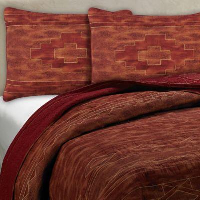 Red and Brown Quilt