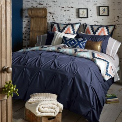Blissliving® Home Harper King Reversible Duvet Cover Set in Navy