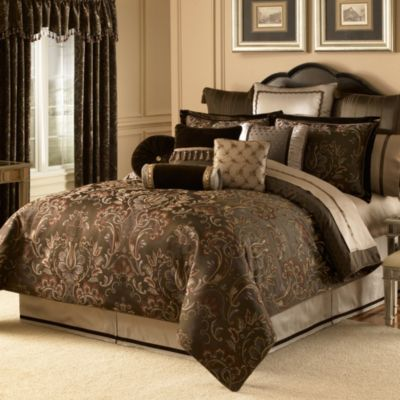 Waterford® Linens Lansing Queen Reversible Duvet Cover