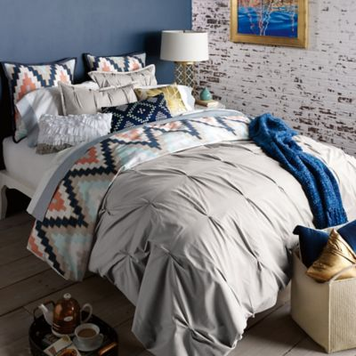Grey Full Queen Duvet Cover