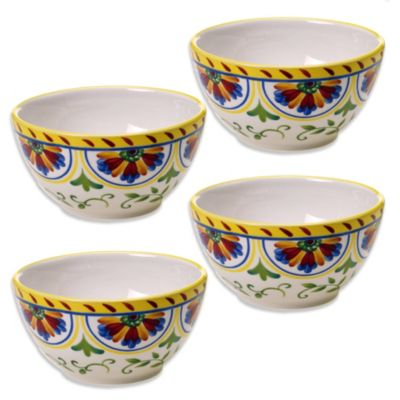 Certified International Amalfi Ice Cream Bowl (Set of 4)