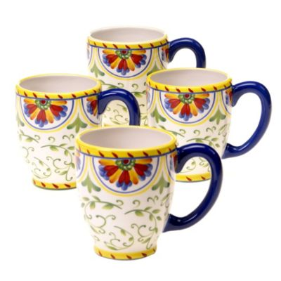 Certified International Amalfi 18-Ounce Mug (Set of 4)