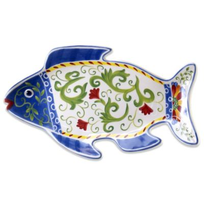 Certified International Amalfi 3-D Fish Platter