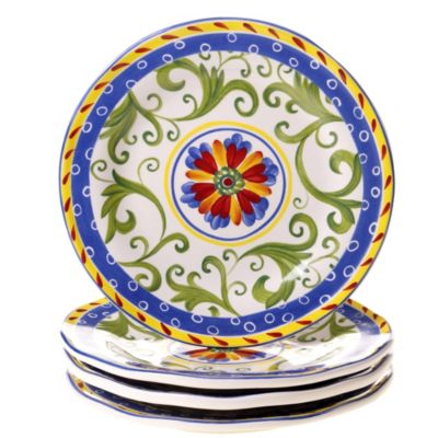 Certified International Amalfi Dessert Plate (Set of 4)