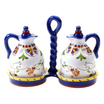Certified International Amalfi 3-Piece Oil and Vinegar Set