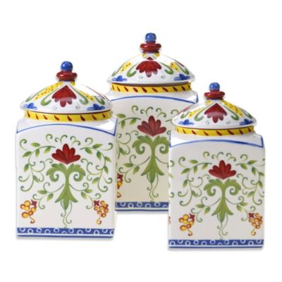 Certified International Amalfi 3-Piece Canister Set