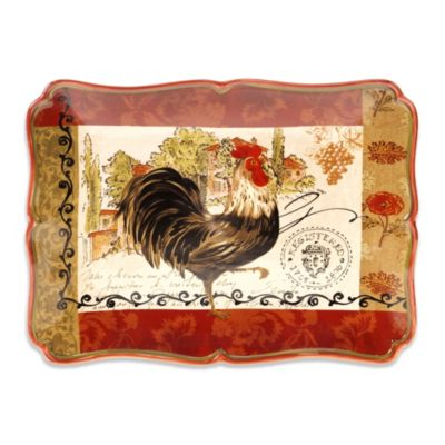 Platter with Rooster