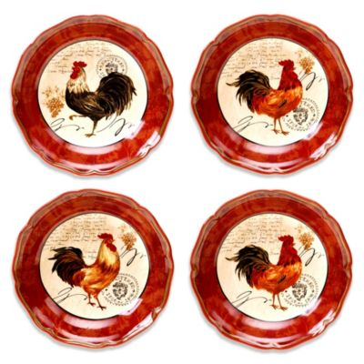 Certified International Tuscan Rooster 8.75-Inch Soup/Pasta Bowl (Set of 4)