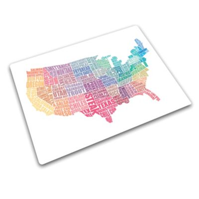 USA Gastronomy Map Work Top Saver