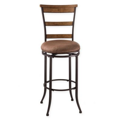 Hillsdale Charleston 26-Inch Swivel Ladder Back Counter Stool