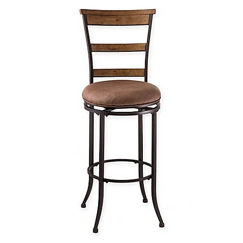 Buy Hillsdale Charleston 26 Inch Swivel Ladder Back Counter Stool From Bed Bath Beyond
