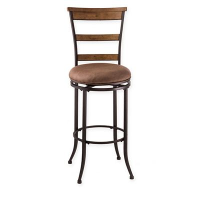 Hillsdale Charleston 30-Inch Swivel Ladder Back Barstool