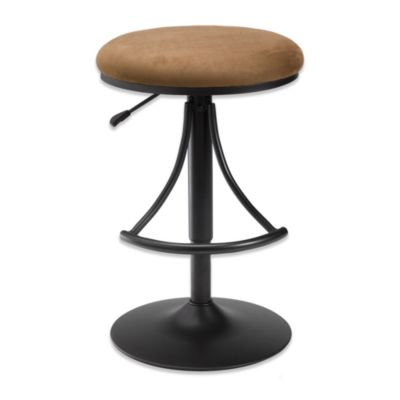 Hillsdale Venus Backless Swivel Barstool in Black