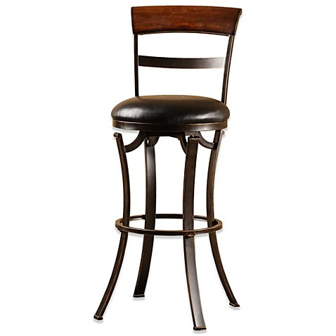 buy hillsdale kennedy 26 inch swivel counter stool from bed bath beyond. Black Bedroom Furniture Sets. Home Design Ideas