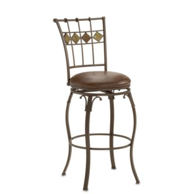 Hillsdale Lakeview Slate Accent 24-Inch Swivel Counter Stool