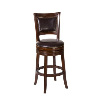 Hillsdale Lockefield Swivel 26-Inch Counter Stool in Brown Cherry