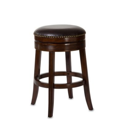 Hillsdale Tillman 30-Inch Backless Swivel Counter Stool in Brown Cherry