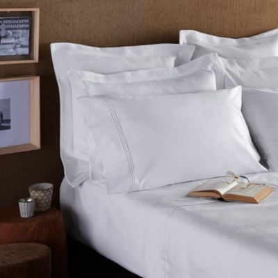 Frette At Home Adige Standard Pillowcase in White