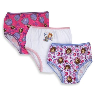Disney® Sofia the First Size 2-3T 3-Pack Toddler Panties