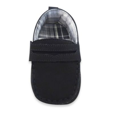 Rising Star Size 3-6M Dress Moccasin in Black