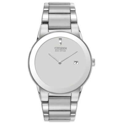 Citizen Men's Eco-Drive Silvertone Stainless Steel Axiom Watch