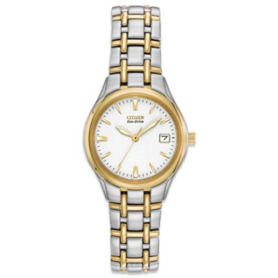Citizen Ladies Eco-Drive Two-Tone Silhouette Watch with Goldtone Markers