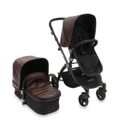 babyroues letour lux II classique Bassinet and Stroller Black Frame System in Lizard Cocoa