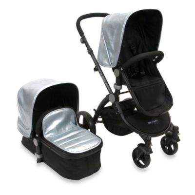 babyroues letour lux II classique Bassinet and Stroller Black Frame System in Classico Silver