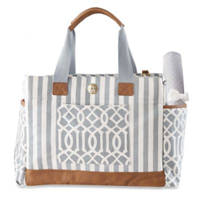 Mud Pie® Bigger Bundle Diaper Bag in Grey
