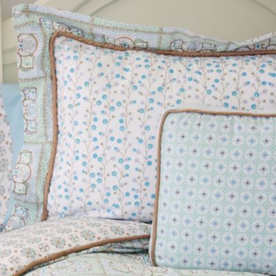 Caden Lane® Modern Vintage Standard Pillow Sham in Blue