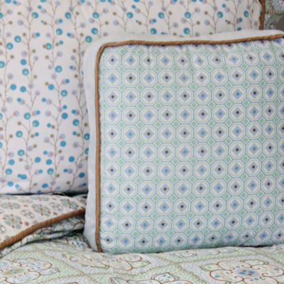 Caden Lane® Modern Vintage Square Toss Pillow in Blue