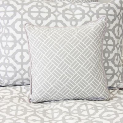 Caden Lane® Mod Lattice Square Throw Pillow in Grey