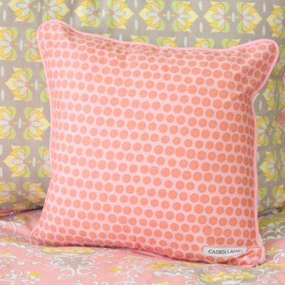 Caden Lane® Amy's Garden Square Toss Pillow in Pink
