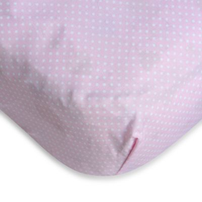 Caden Lane® Pink Dahlia Crib Sheet