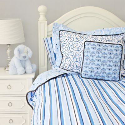 Caden Lane® Luxe Full/Queen Duvet Cover in Blue