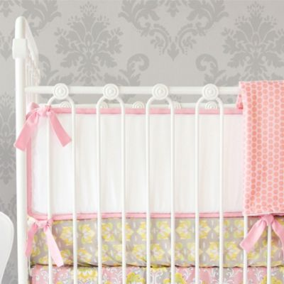 Caden Lane® Amy's Garden 4-Piece Double-Sided Bumpers in Pink