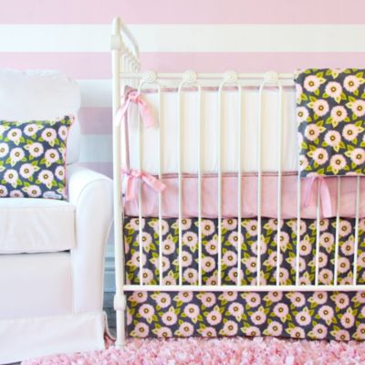 Caden Lane® Pink Dahlia Crib Bedding 2-Piece Set