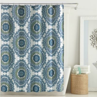 Anthology™ Bungalow 54-Inch x 78-Inch Stall Shower Curtain in Teal