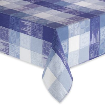 "Chanukah Holiday 52"" x 70"" Oblong Tablecloth"