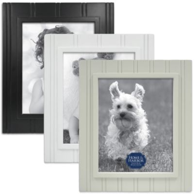 Wainscot 8-Inch x 10-Inch Picture Frame in White
