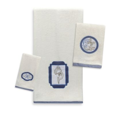 Blue Seaside Bath Towels